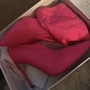 Pink FashionNova Boots